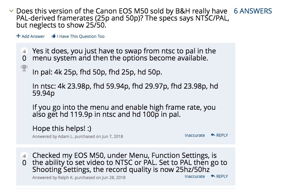 Is the Canon EOS M50 worldcam in the US? Yes or no? by Allan