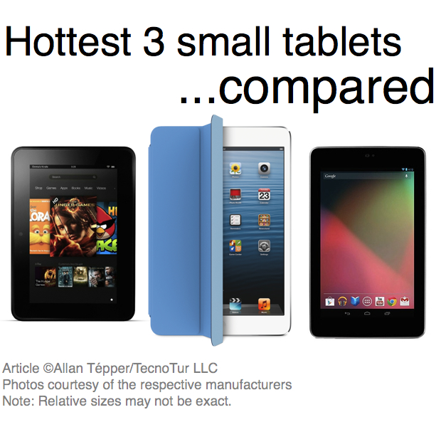 Small tablets (Kindle Fire HD, iPad mini, Nexus 7) for content producers and consumers 1