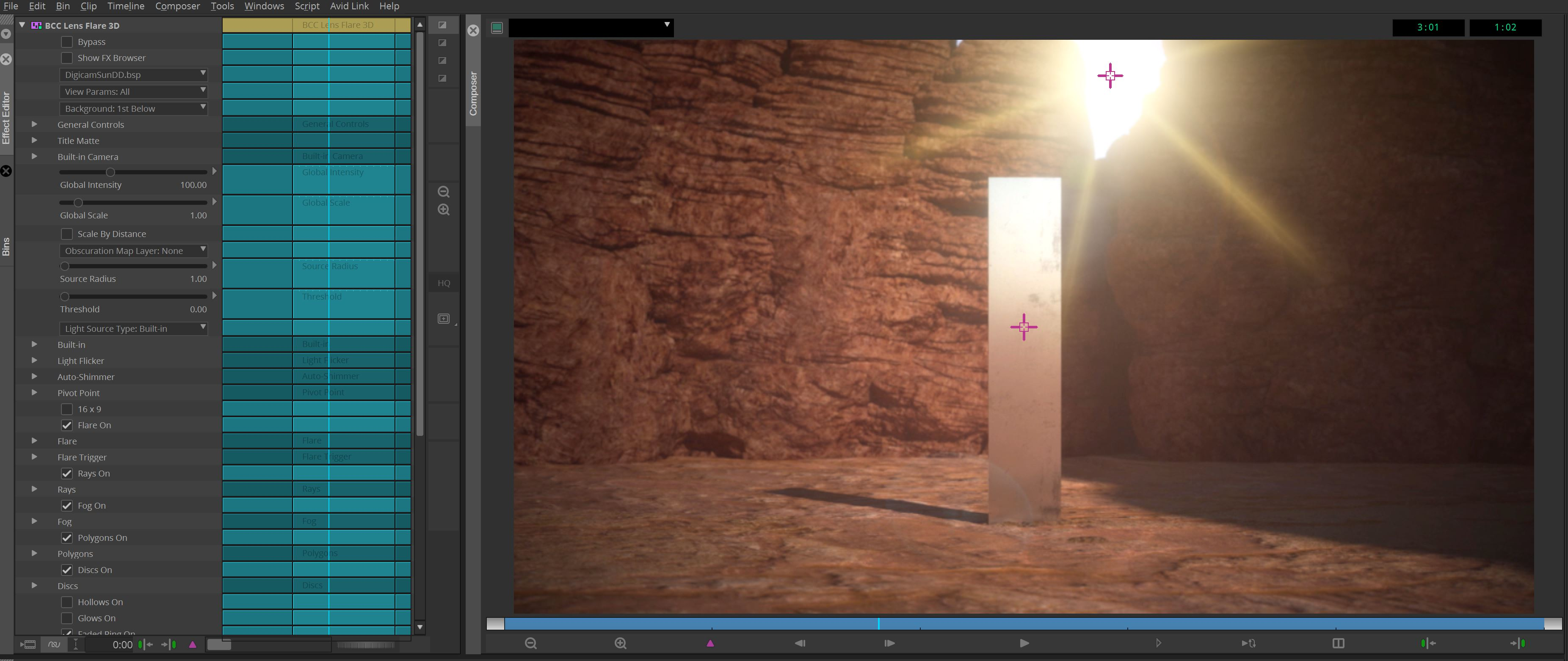 BCC Lens Flare 3D