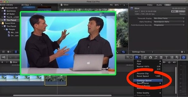 Conforming Frame Rates in FCP X 1