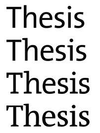 Typeface: Thesis from Lucas de Groot
