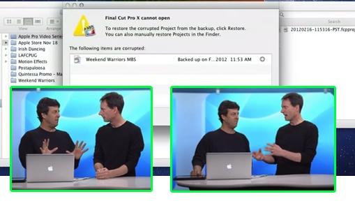 Final Cut Pro X and Auto Backup 1