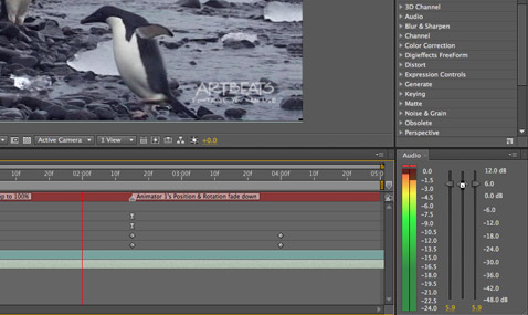After Effects Apprentice Free Video: Managing Audio Levels 1