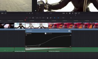 Using the Transition Curves Editor in Resolve