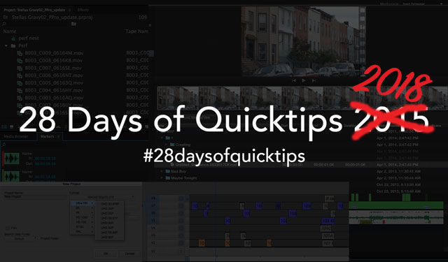 #28daysofQuickTips 2018