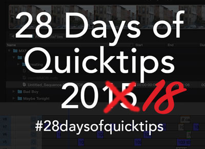 Day 21 #28daysofQuickTips 2018 – Use DaVinci Resolve free to test