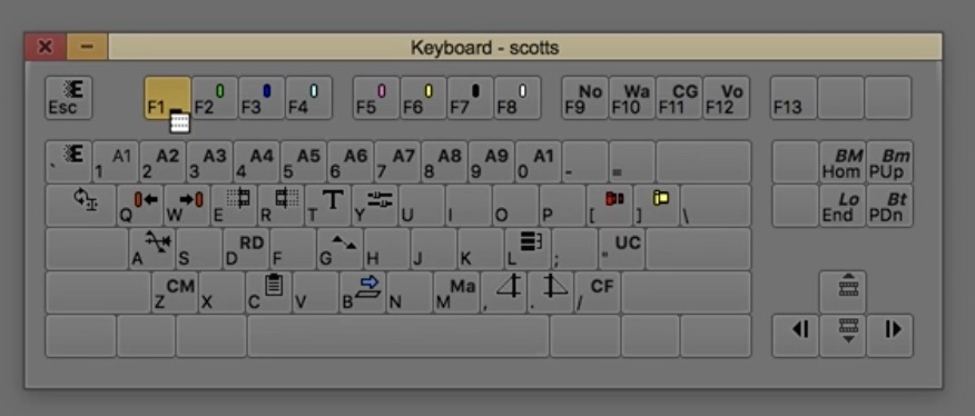 Avid Media Composer keyboard menu to button