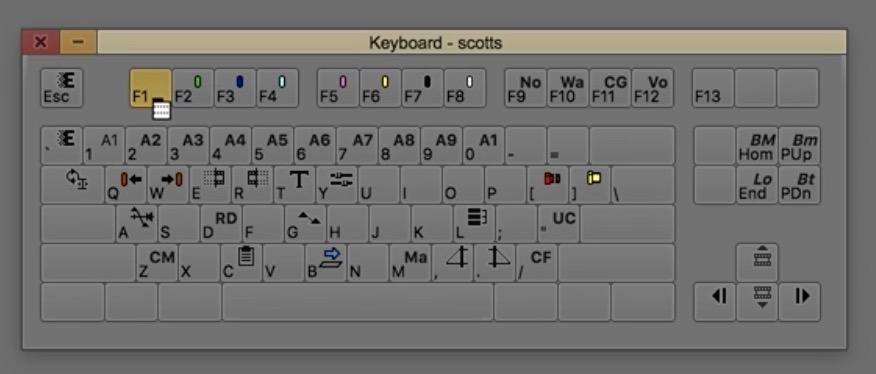 Avid Media Composer keyboard menu to button