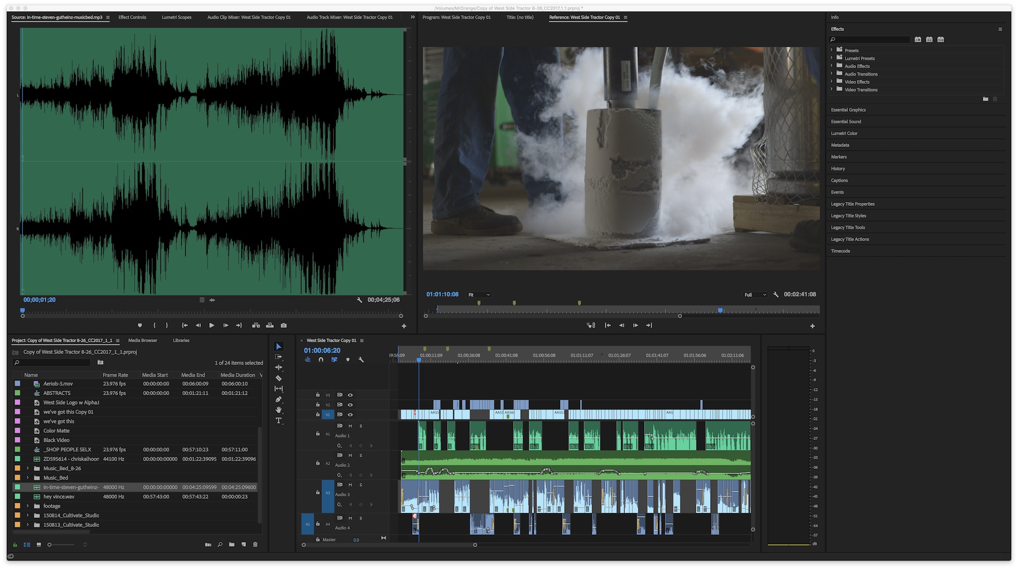 Adobe Premiere Pro all panels