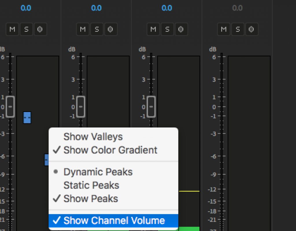 Adobe Premiere Pro channel volume