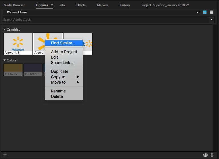 Adobe Premiere Pro Find Similar