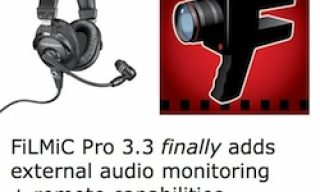 FiLMiC Pro 3.3 adds external audio monitoring + remote