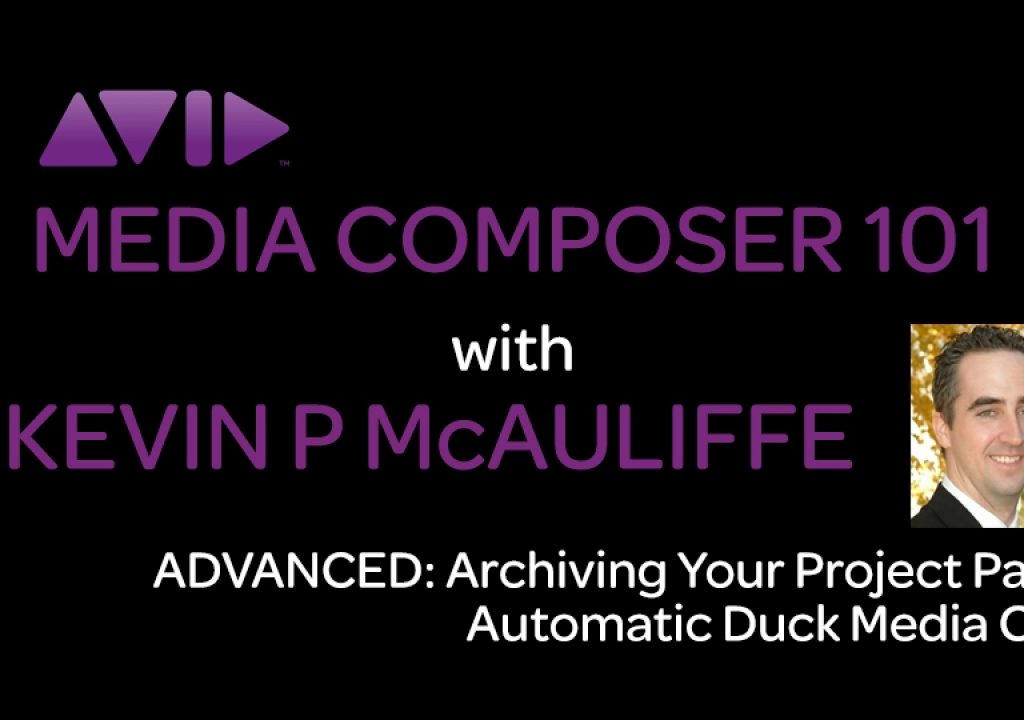 Media Composer 101 - Advanced - Archiving your Project Part 3 - Automatic Duck's Media Copy 1