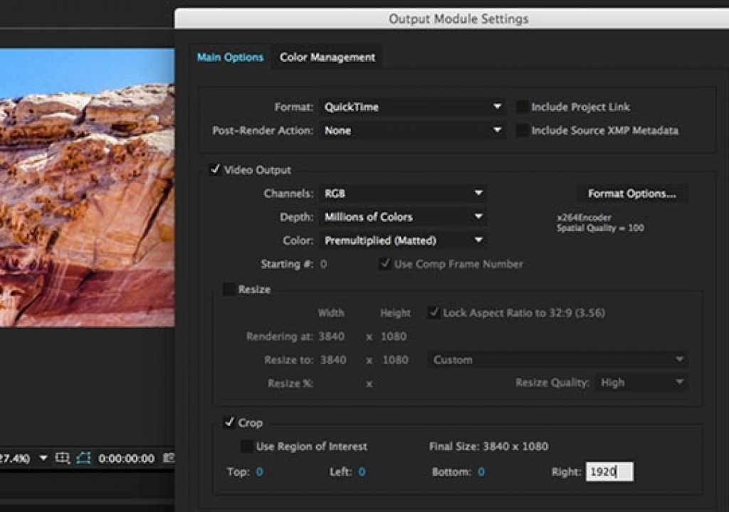 After Effects Hidden Gems: Cropping in the Output Module 1