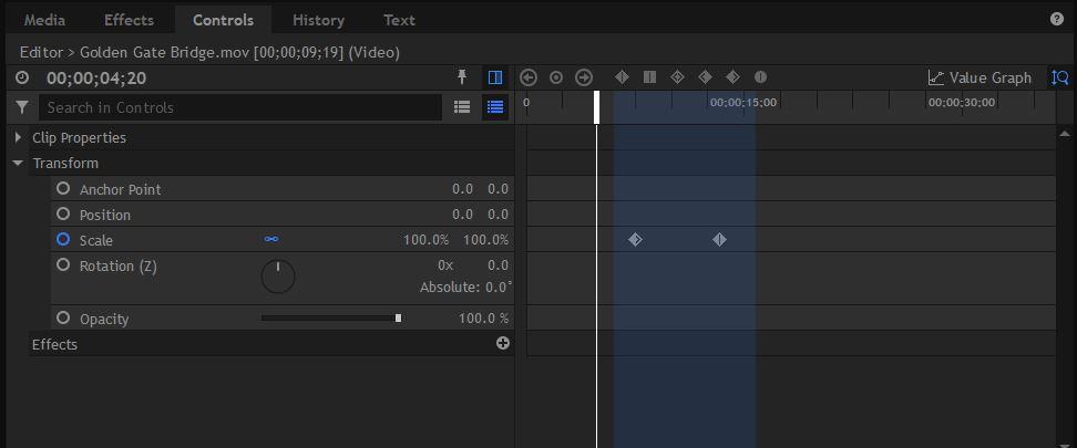 HitFilm Pro - Display Timeline Option