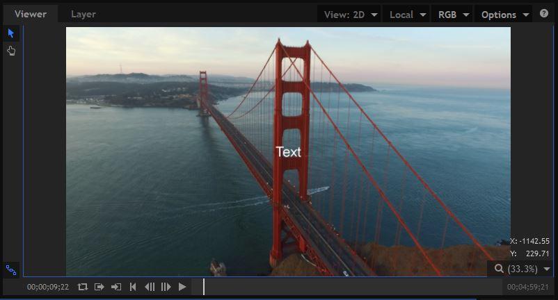 HitFilmPro - Text - Default State