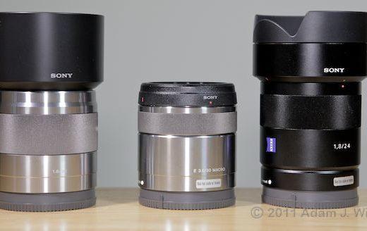 Quick Look: Three New E-Mount Primes 35