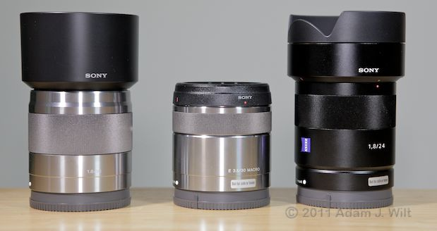 Quick Look: Three New E-Mount Primes 15