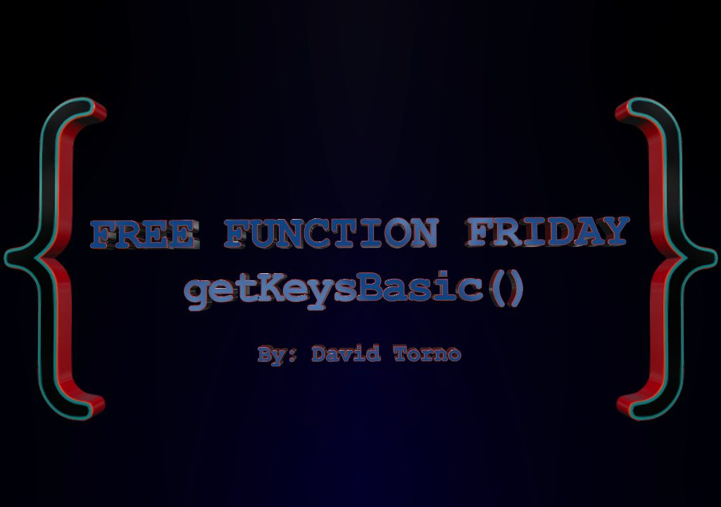 Free Function Friday getKeysBasic 1