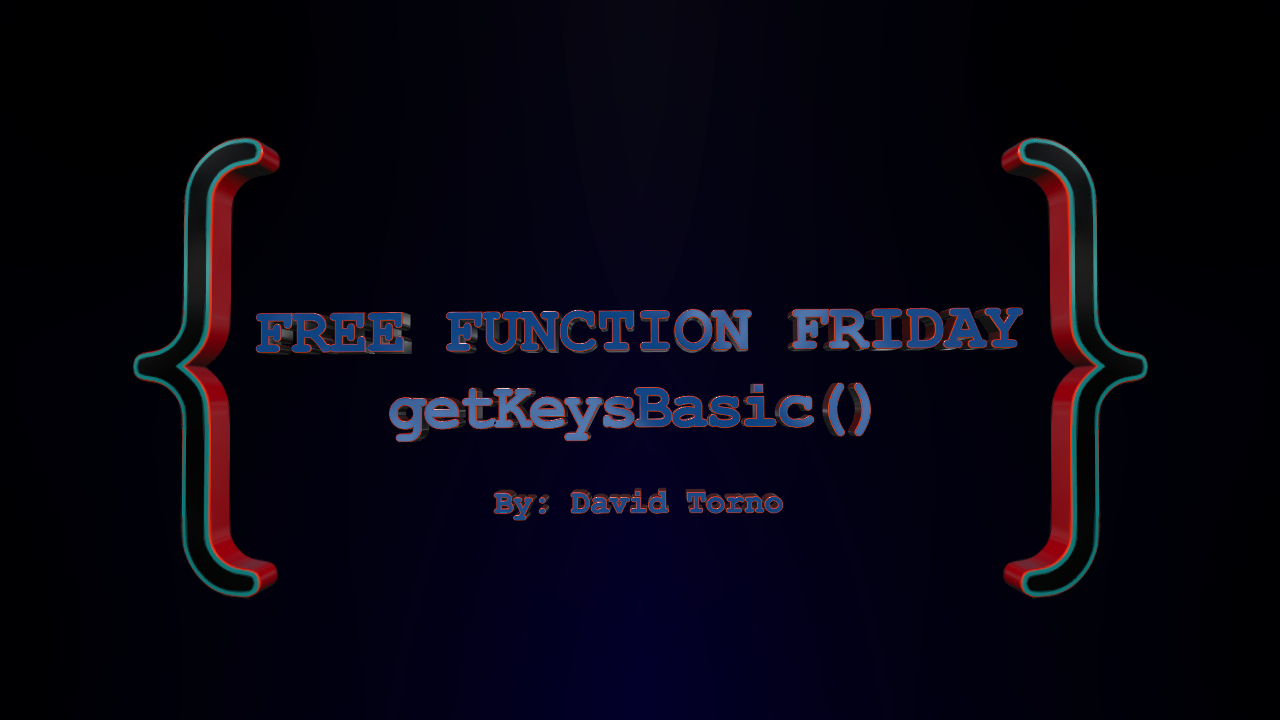 Free Function Friday getKeysBasic 2