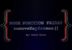 Free Function Friday removeKeyframes