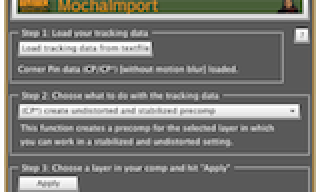 After Effects Script of the Week: MochaImport