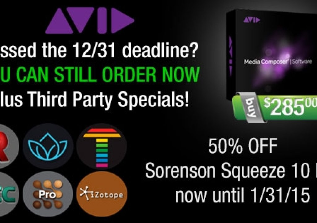 You can still purchase Avid Media Composer & Symphony Support / upgrades for $285 from Videoguys! 3