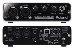 Roland DUO-CAPTURE EX US$199 field audio mixer for iPad 11