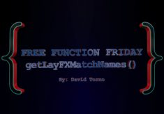 Free Function Friday getLayFXMatchNames
