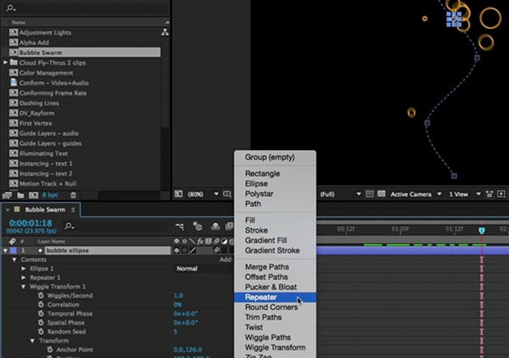 After Effects Hidden Gems Weekly: Swarming Shapes 1