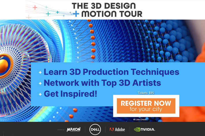 3D Design + Motion Tour: a global learning event hits the