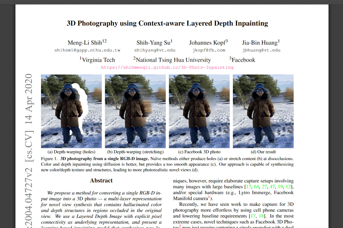 Convert single photos into 3D images with AI