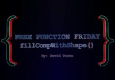 Free Function Friday fillCompWithShape