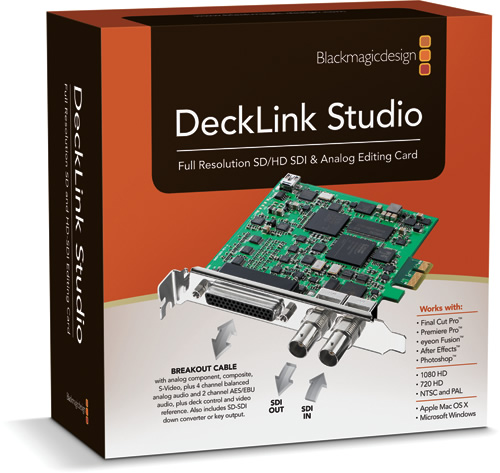 Blackmagic Design Announces DeckLink Studio 1