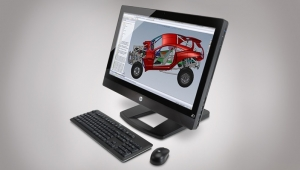 HP unveils the world's first all-in-one workstation with a 27-inch diagonal display. 1