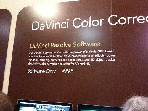 DaVinci Resolve software price