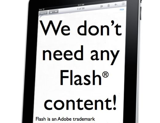 T©pper is glad that the iPad doesn't support Flash 2