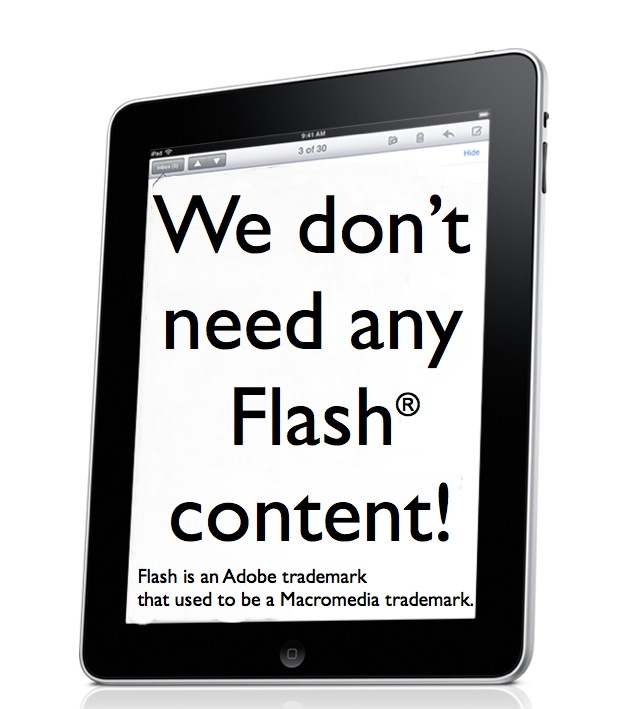 T©pper is glad that the iPad doesn't support Flash 1