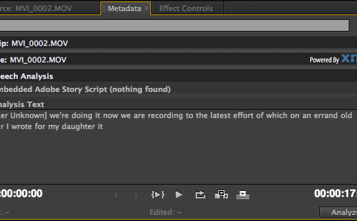 Adobe's Speech Analysis is still chugging along in Premiere Pro CS5.5 8