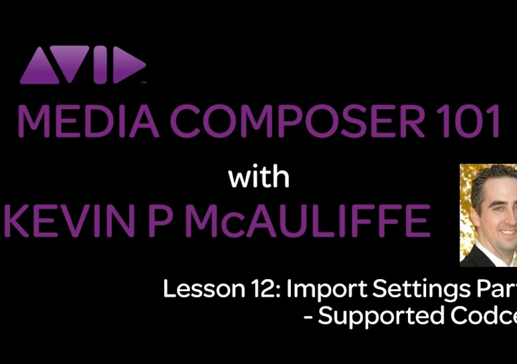 Media Composer 101 - Lesson 12 - Import Settings Part 1 - Supported Codecs 1