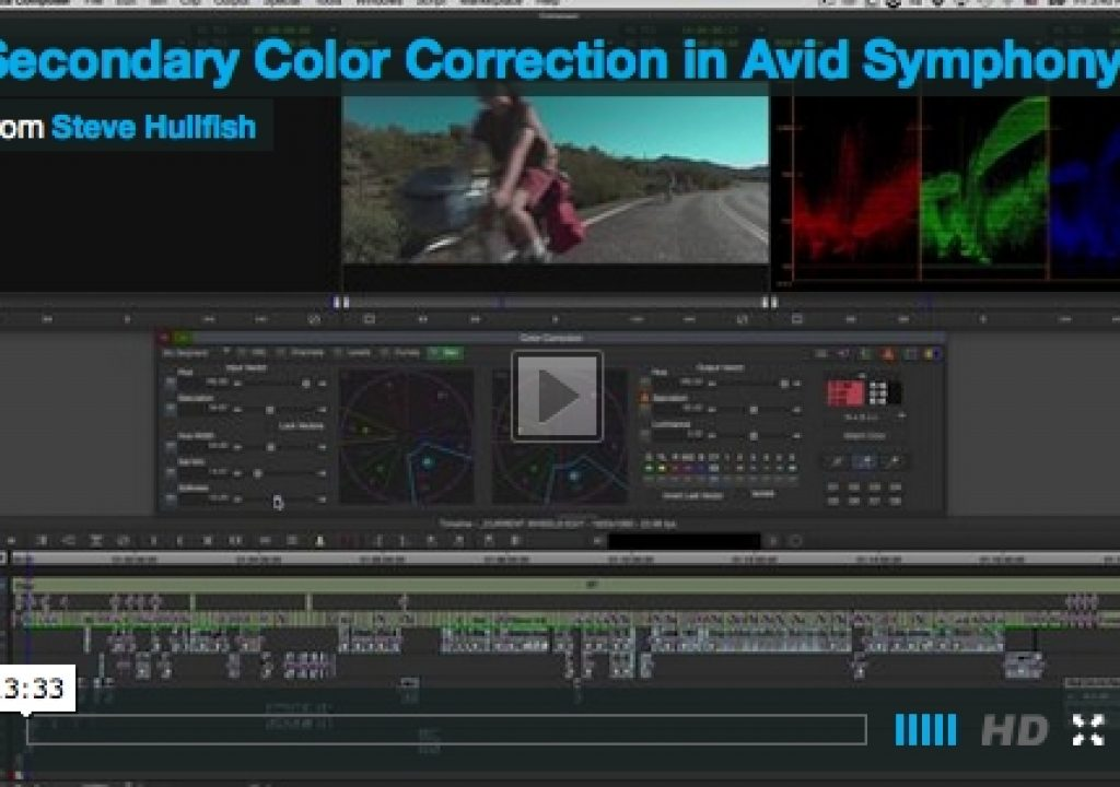 Secondary Color Correction Video Tutorial 1