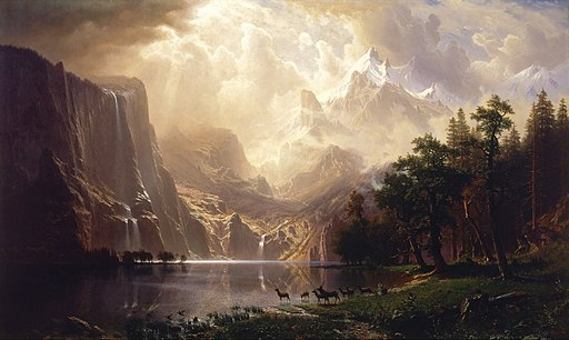Albert Bierstadt - Among the Sierra Nevada, California - Google Art Project