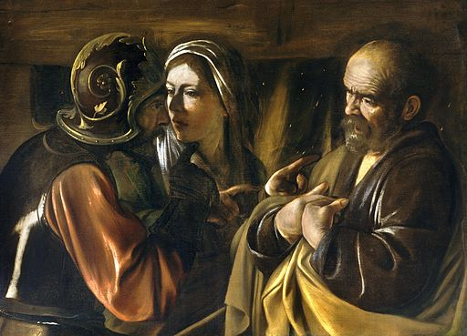 The Denial of Saint Peter-Caravaggio (1610)