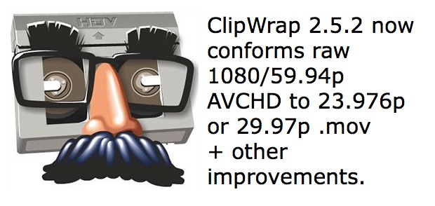 ClipWrap version 2.5.2 adds conforming and other new features 1