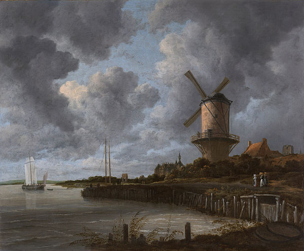 The Windmill at Wijk bij Duurstede 1670 Ruisdael