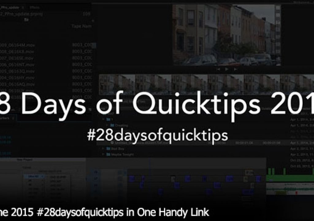 Day 29 #28daysofquicktips - A Batch of Media Composer & FCPX tips from Jesús 1