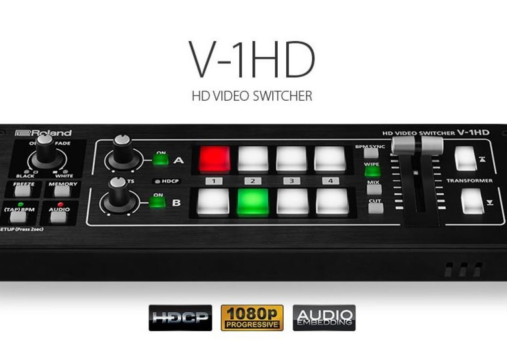 Introducing the Roland V-1HD - A Compact, Full 1080p HD Switcher for only $995 1