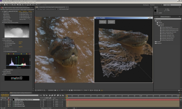 emotion3D announces Stereoscopic Suite X3 plugins for Adobe After Effects 3