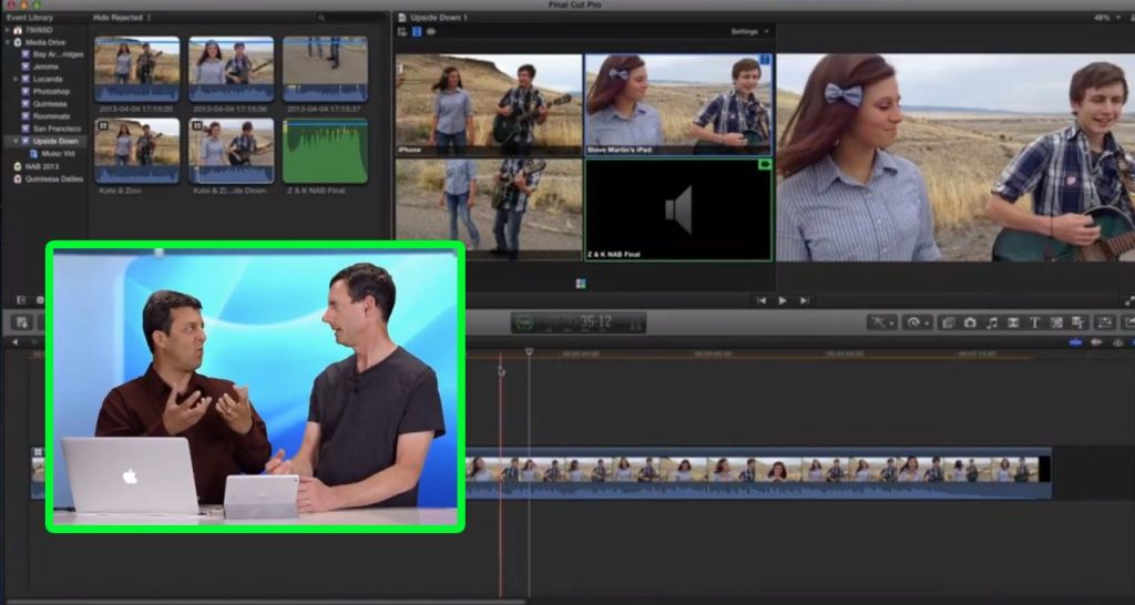 Multicam for YouTube in Final Cut Pro X 1