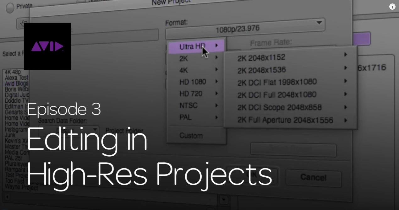 Get Started Fast with Media Composer for High-Res Workflows—Part 3 3